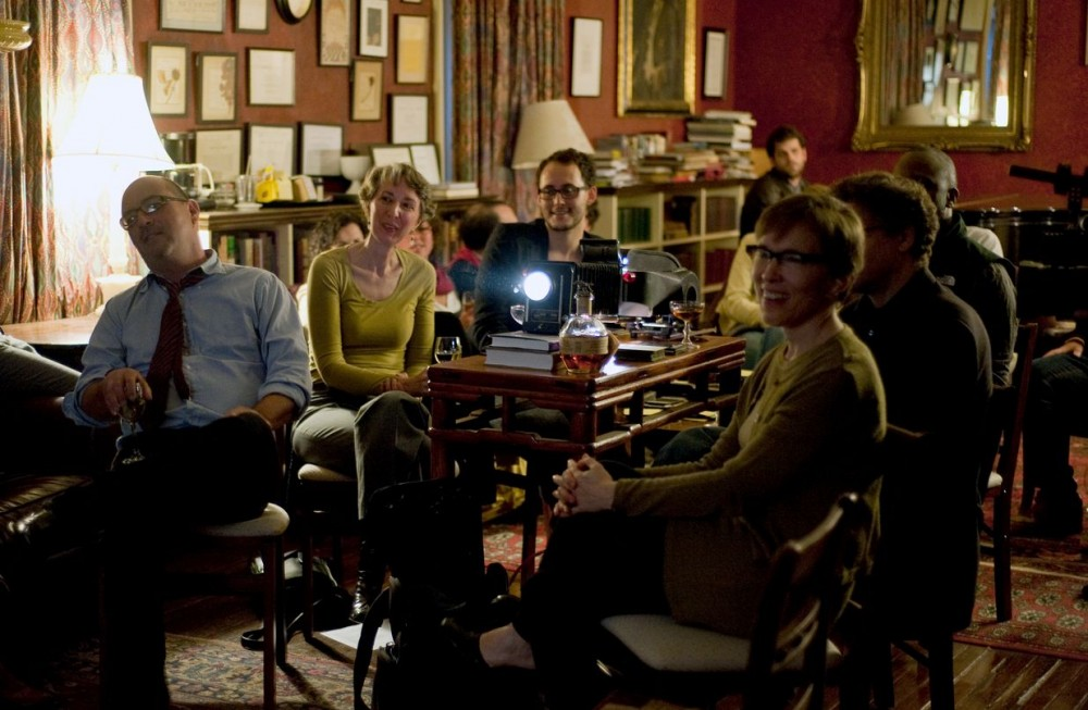 <p>Theaster Gates, <em>My Bourbon, My Glass Lantern Slides.</em> Presented as a part of <em>Experience Economies 4: Chamber Play</em>, 2011. The Signet Society, Cambridge, MA. Photo: David DiMaria.</p>