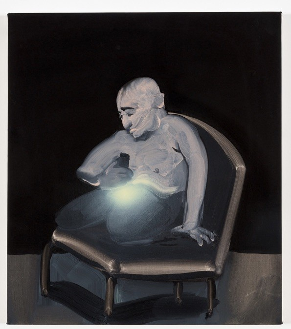 <p>Tala Madani: <em>Searchlight</em>, 2013, oil on linen, 16 by 14¼ inches; at the Contemporary Art Museum St. Louis.</p>