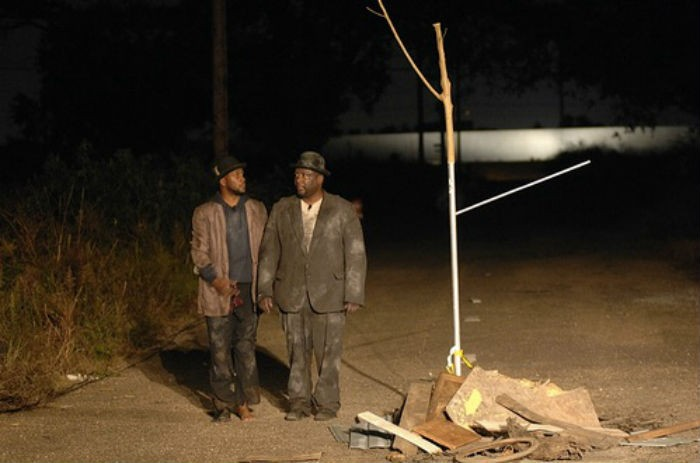 <p>Performance view in the Lower Ninth Ward. Paul Chan, <em>Waiting for Godot in New Orleans,</em> 2007. New Orleans. Photo: Donn Young and Frank Aymami.</p>